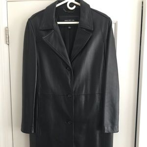 Andrew Marc leather car coat